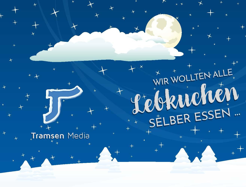 Lebkuchen angebissen – Weihnachtskarte
