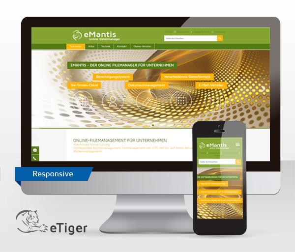 Dateimanager eMantis mit neuer Website online