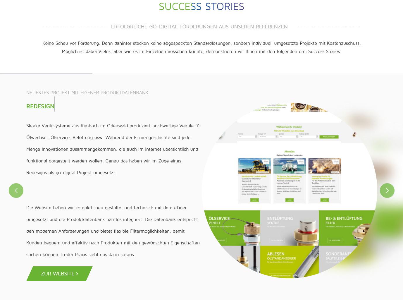 Darstellung von Success Stories