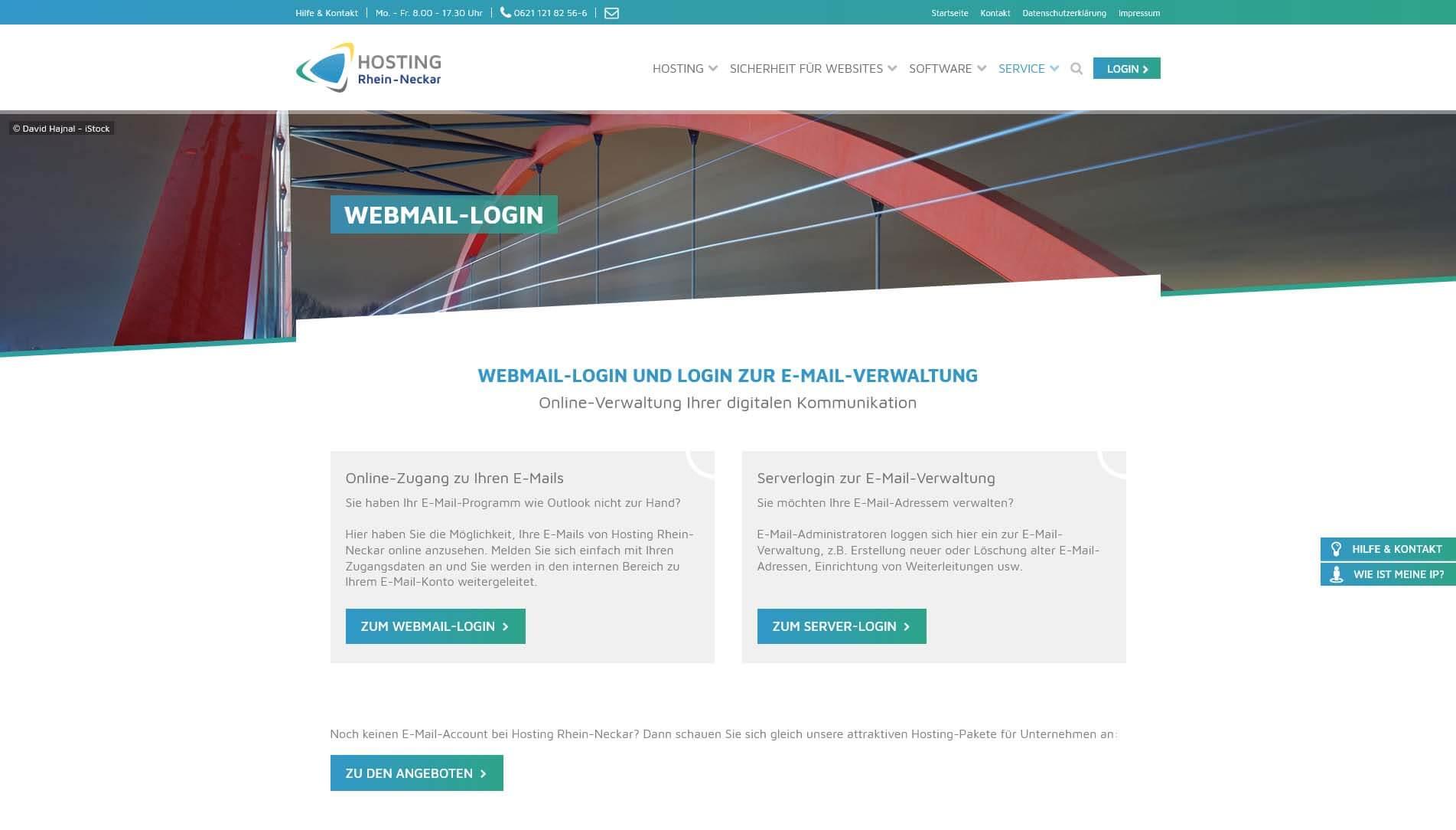 Übersichtliche Webmailerboxen